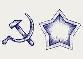 Soviet star icon — Stock Vector