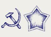 Soviet star icon — Stock Vector
