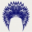 Vector de stock : Native americindiheaddress