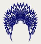 Native american indian headdress — Vecteur