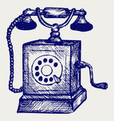 Old telephone — Vector de stock