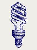 Energy saving light bulb — Stock Vector