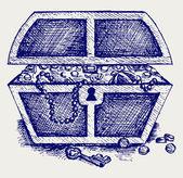 šperky a box. — Stock vektor