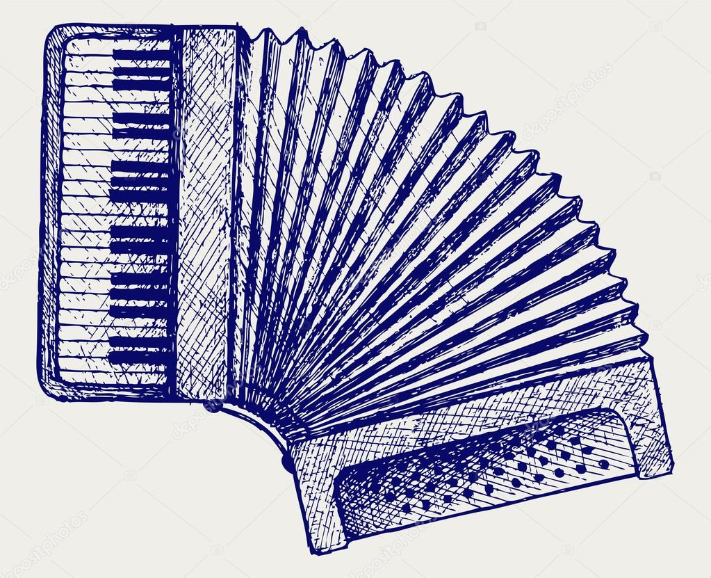 Accordion Vector Accordion - stock illustration