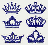Crown collection — Stock Vector