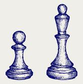 Chess figures — Stock Vector