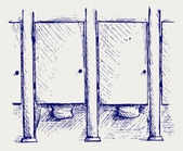 Openbaar toilet — Stockvector