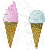 Soft serve ice — Stock Vector