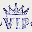 Vip crown symbol — Image vectorielle