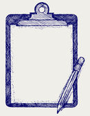 Clipboard with pencil — Vecteur