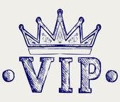 Vip crown symbol — Stock Vector