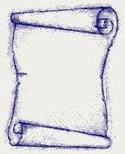 古いスクロール — ストックベクタ