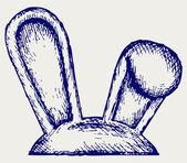 复活节兔子耳朵 — 图库矢量图片