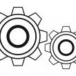 黑色齿轮 — 图库矢量图片