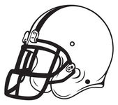 Helmet football — Stock Vector
