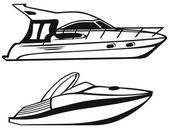 Luxussegelyacht — Stockvektor