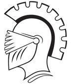 Silhouette helmet — Stock Vector