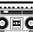 Stock Vector: Retro ghetto blaster