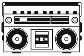 Retro ghetto blaster — Stock Vector