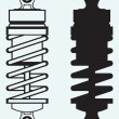 Stock Vector: Shock absorber