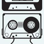 Audio cassette tape — Stock Vector
