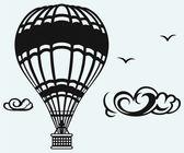 Hot air balloon in the sky — Stock Vector