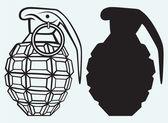 Image of an manual grenade — Stock Vector