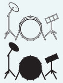 Illustration drums — Stock Vector