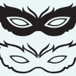 Masks for masquerade costumes — Stockvektor