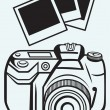 Digital photo camera — Stock Vector