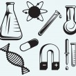 Biology, chemistry and physics — Imagen vectorial