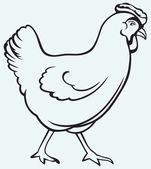 Figure chicken — Stock Vector