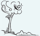 Silhouette de l'arbre — Vecteur