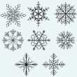 Snowflake winter — Stock Vector