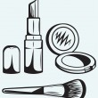 Various Cosmetics — Stock Vector