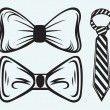 Bow tie — Stock Vector