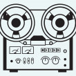 Reel tape recorder — Stock Vector