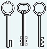 Silhouette of keys — Vector de stock