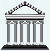 Bank. Colonnade — Stock Vector
