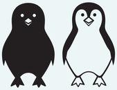 Kreslený tučňák — Stock vektor