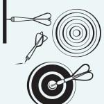 Dart on target — Stock Vector #40868547