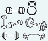 Dumbbells — Stock Vector