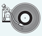 Record player vinyl record — Stock Vector