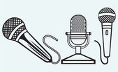 Microphone icons set — Stock Vector