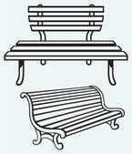 Wooden bench — Stock Vector