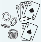 азартные игры — Cтоковый вектор