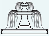 Fountain in the style of renaissance — Vecteur