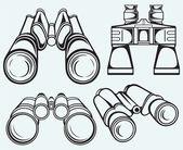 Binoculares — Vector de stock