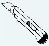 Office knife — Stock Vector