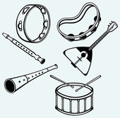 Different music instruments — Stock Vector